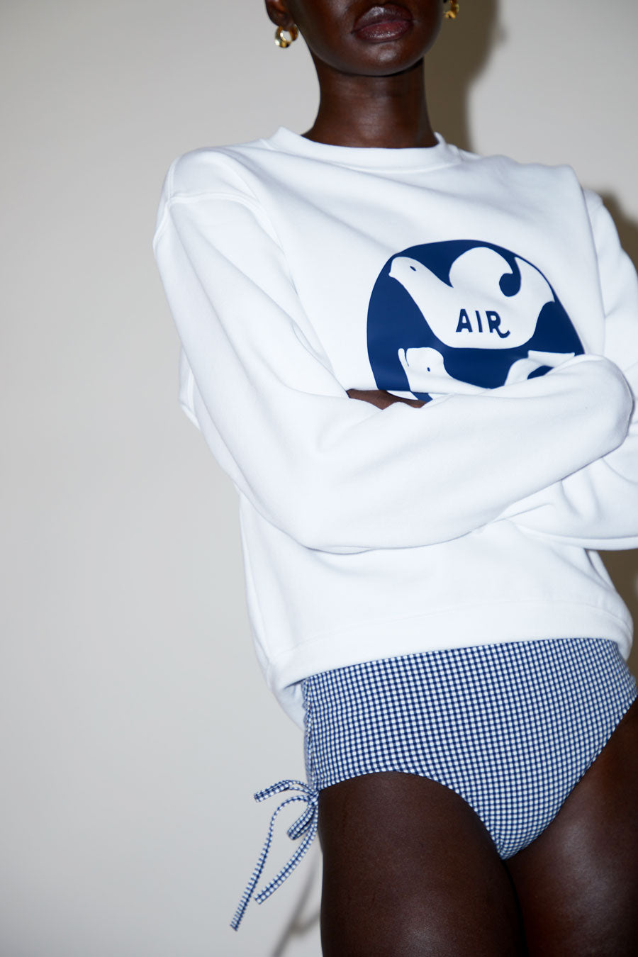 Belize Alice Bottom in White / Navy