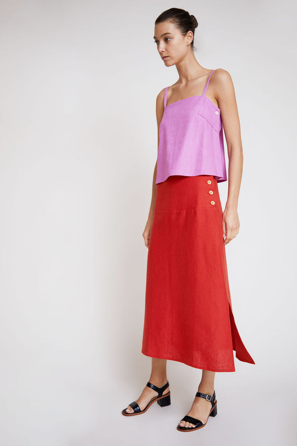 Belize Elvira Skirt in Volcano Red