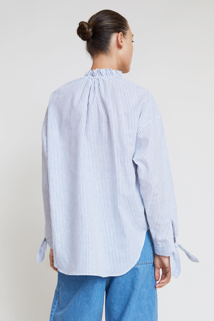 Image of Belize Nika Shirt in Ticking Stripe