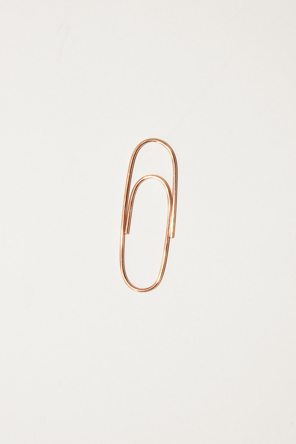Biis Big Paperclip in Rose Gold Plated Sterling Silver
