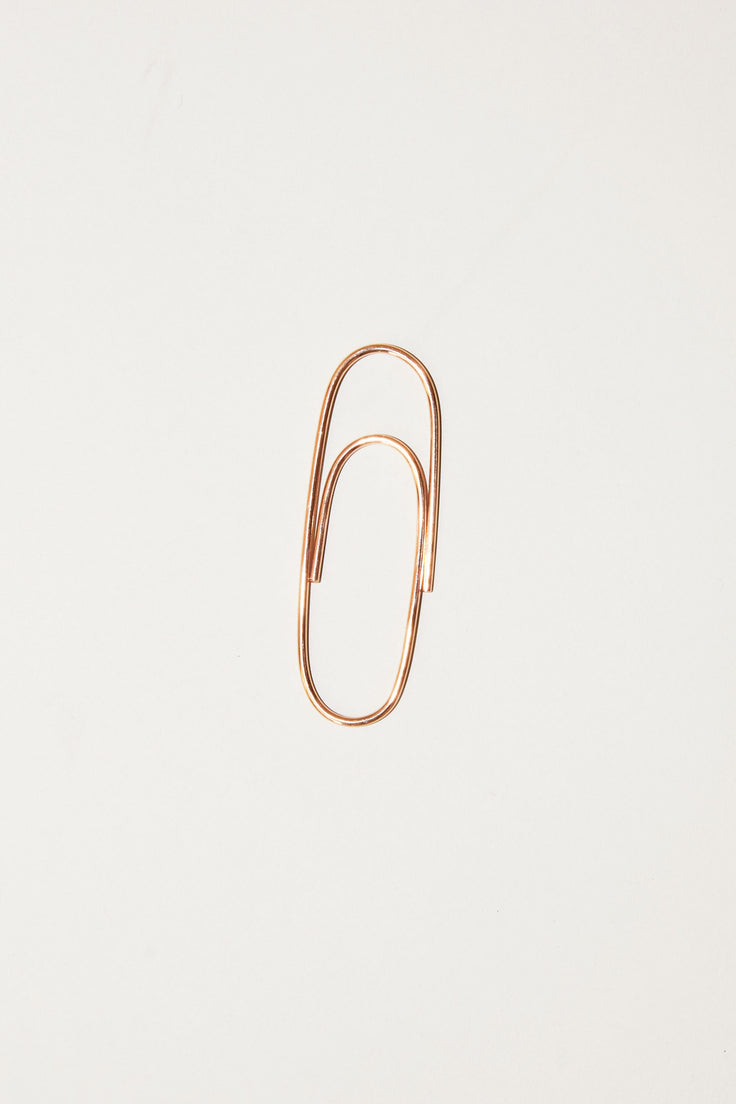 Image of Biis Big Paperclip in Rose Gold Plated Sterling Silver
