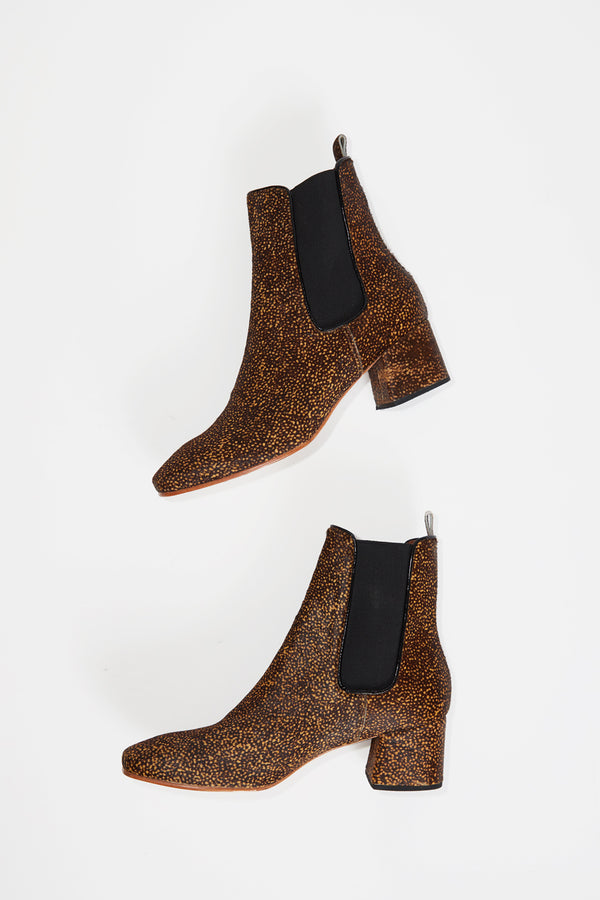 No.6 Bristol Ankle Boot in Speckled Pony