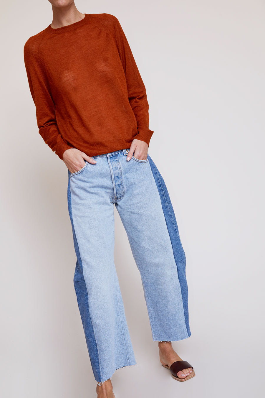 B Sides Aux Regular Lasso Jean in Isaac Wash