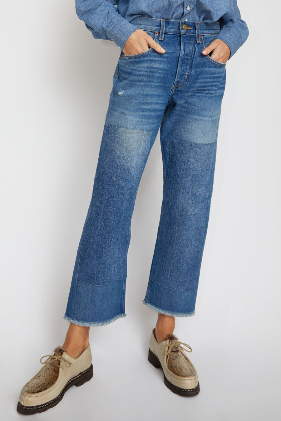B Sides Marcel Relaxed Straight Jean in Murray Medium Vintage Patchwork 2