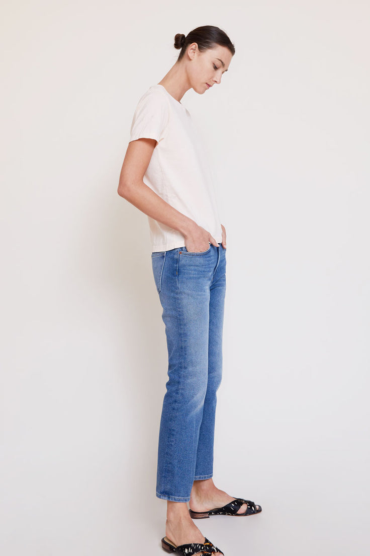 Image of B Sides Field Mid Kick Jean in Viva Wash