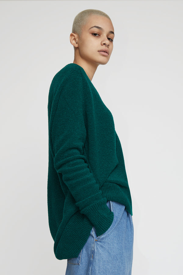 Christian Wijnants Karwat Sweater in Bottle Green