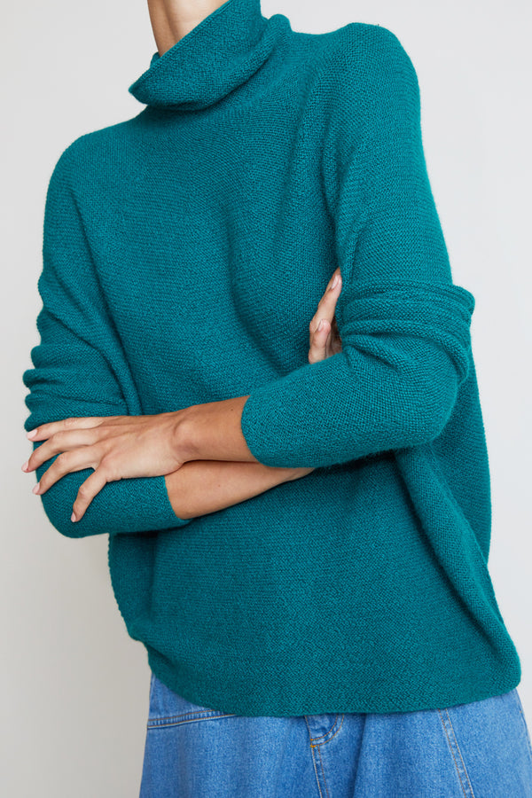 Christian Wijnants Kaleza Turtleneck Sweater in Green
