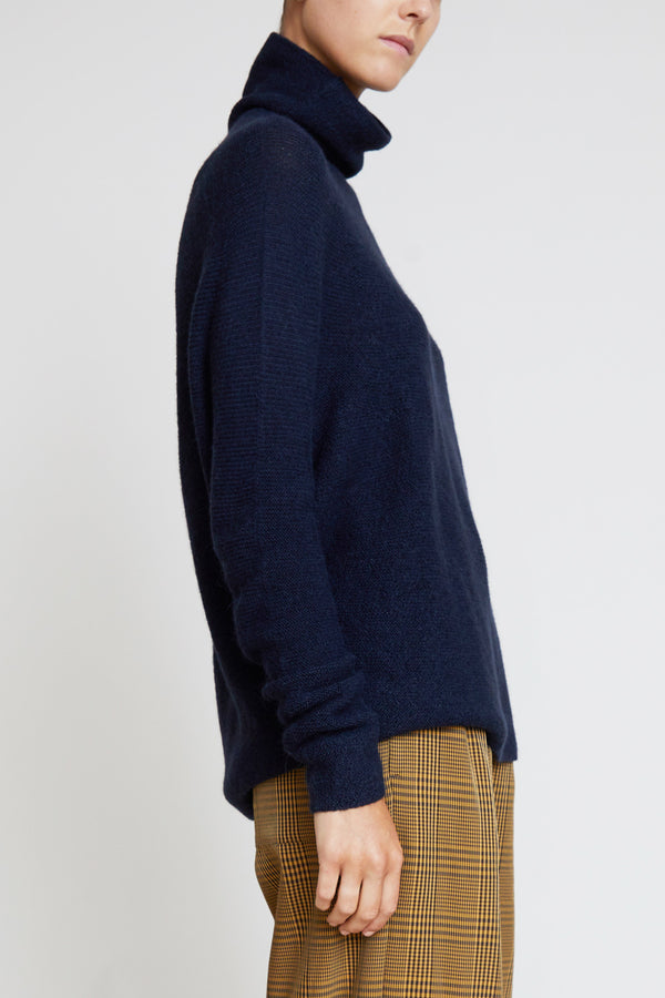 Christian Wijnants Kaleza Turtleneck Sweater in Navy