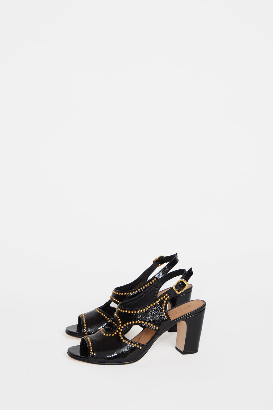 No.6 Cleo Heel in Black Studs