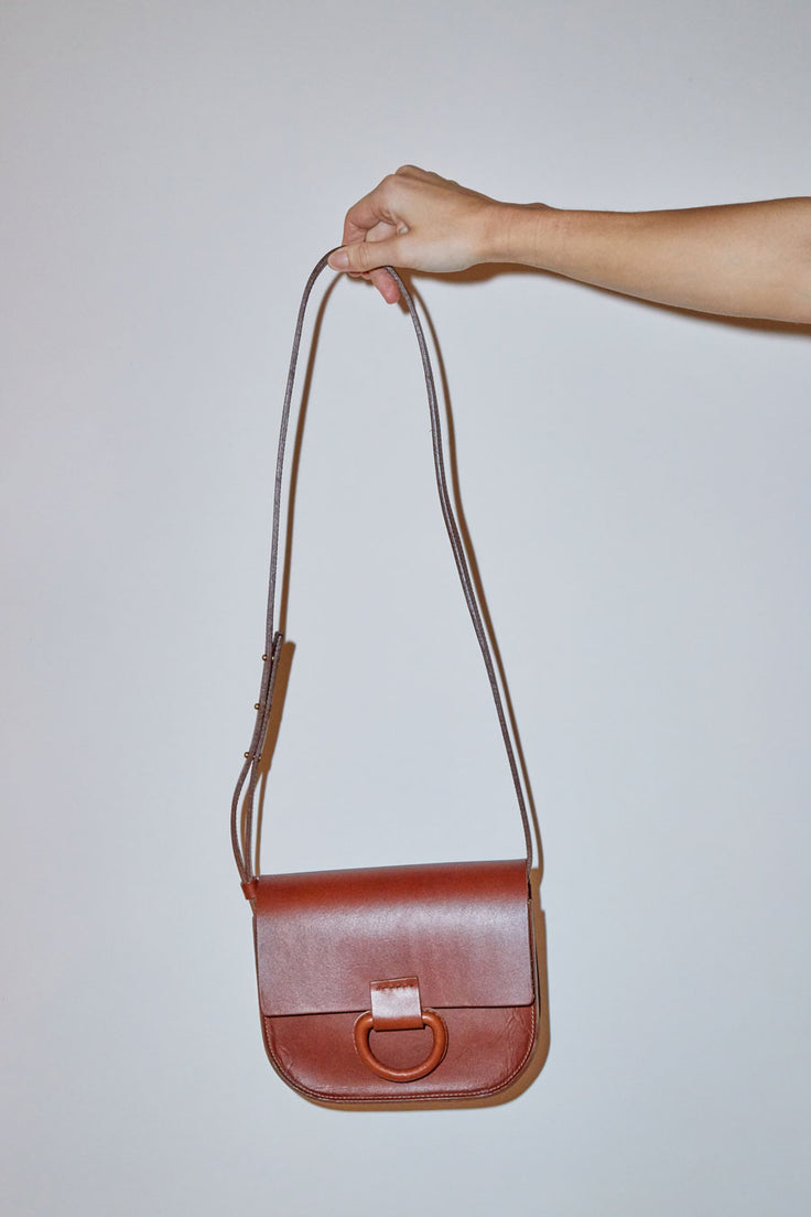 Image of Crescioni Mini Logan Bag in Saddle Brown