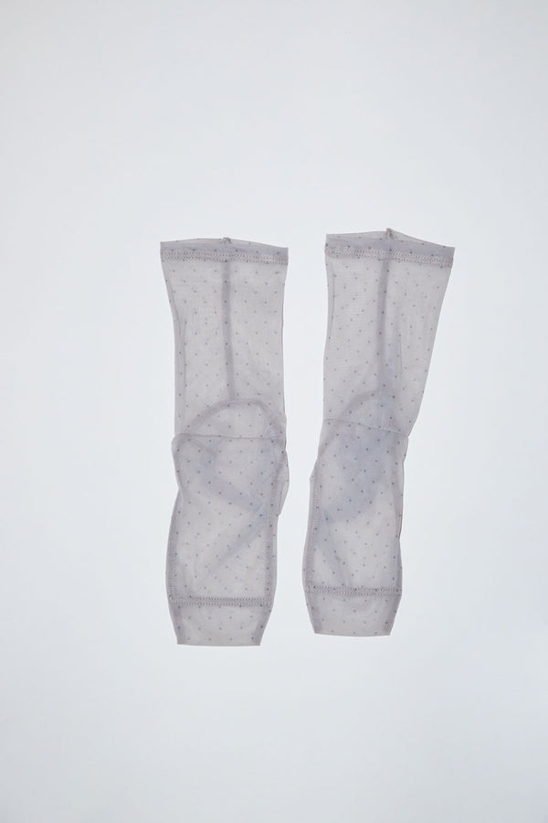 Darner Mini Dots Mesh Socks in Nude and Black