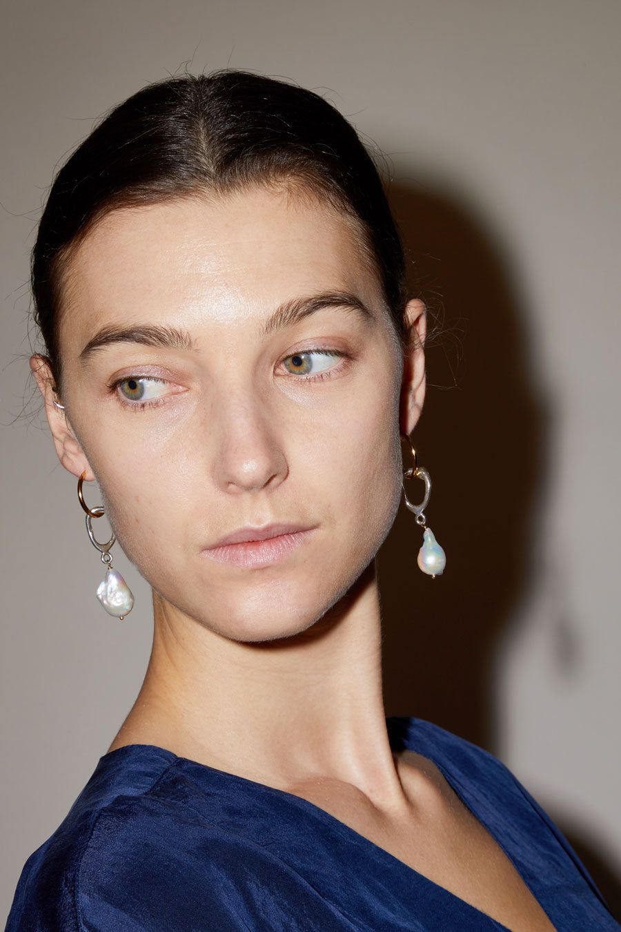 Diana Lecompte Ceci Pearl Hoops