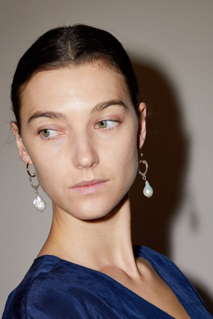 Image of Diana Lecompte Ceci Pearl Hoops