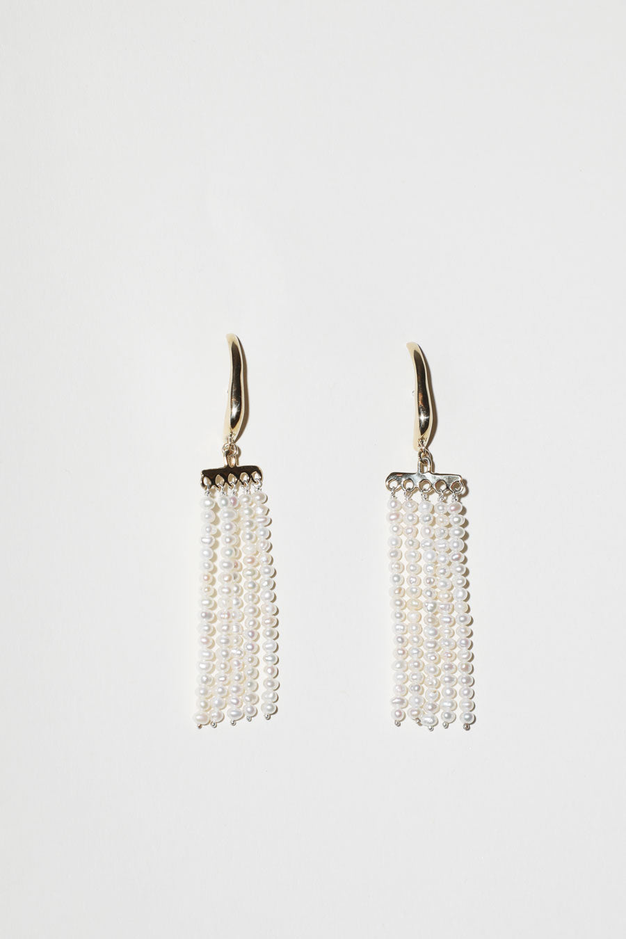 Faris Swing Earrings in Bronze with Pearls
