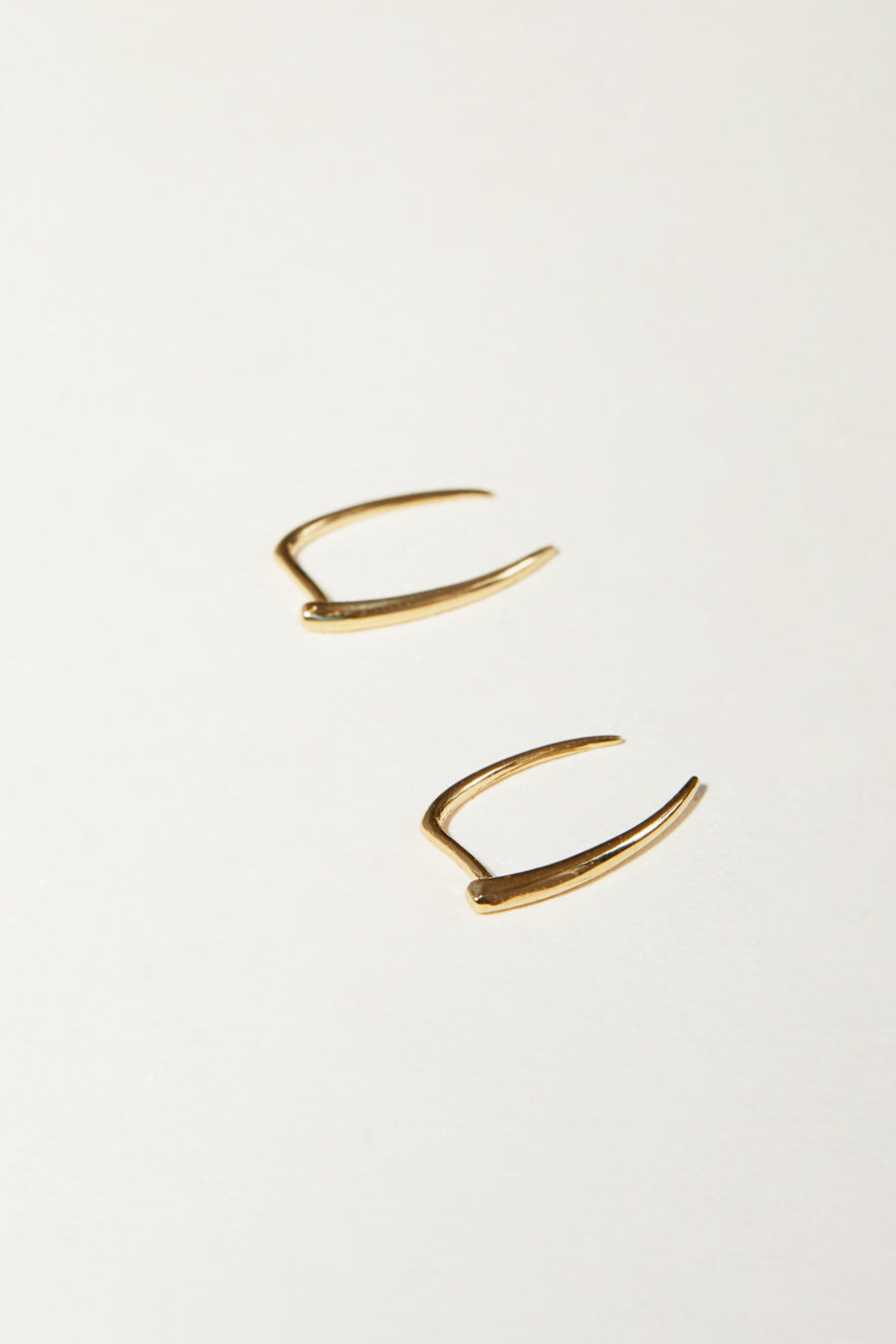 Gabriela Artigas Infinite Tusk Earrings in 14K Yellow Gold