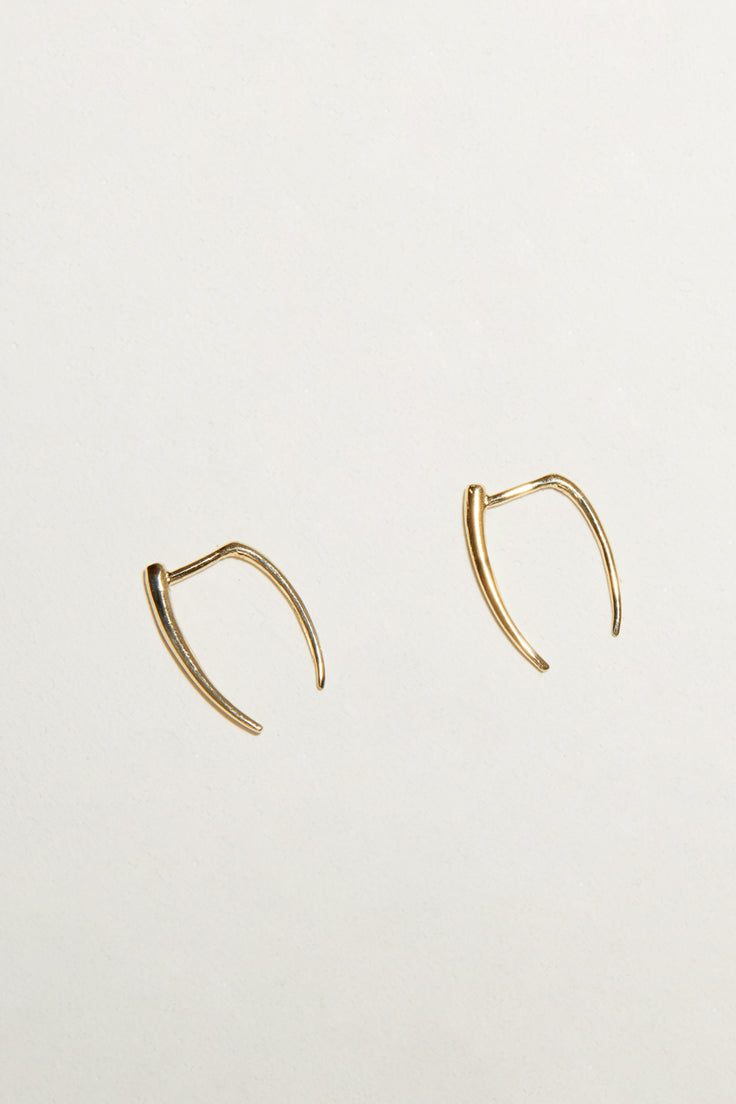 Image of Gabriela Artigas Infinite Tusk Earrings in 14K Yellow Gold