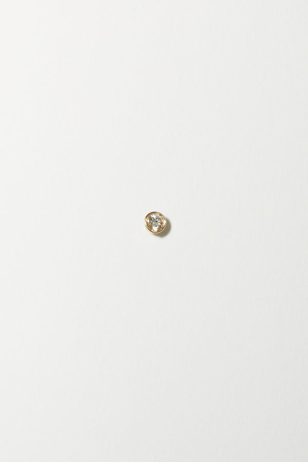 Gabriela Artigas Infinite Tusk Single Earring in 14K Yellow Gold with White Diamond
