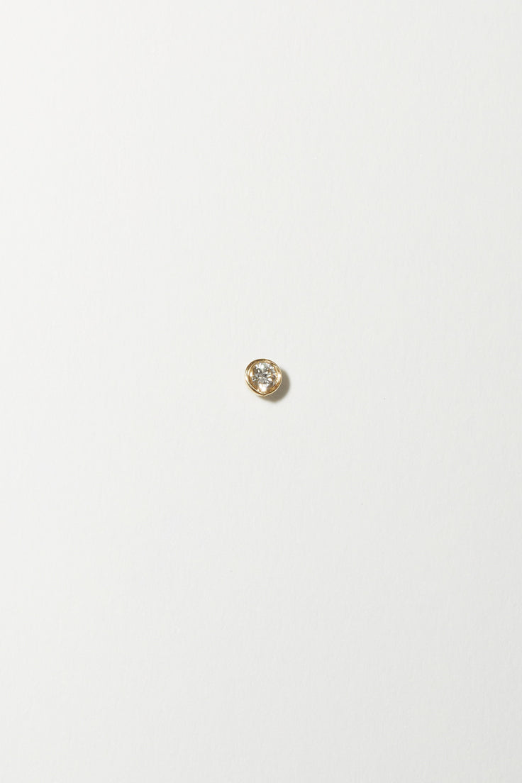 Image of Gabriela Artigas Infinite Tusk Single Earring in 14K Yellow Gold with White Diamond
