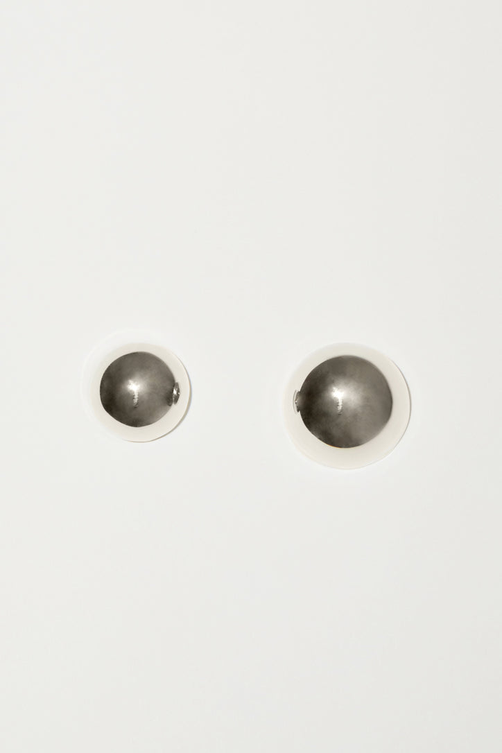 Image of Gabriela Artigas Full Asymmetric Aura Earrings in Sterling Silver