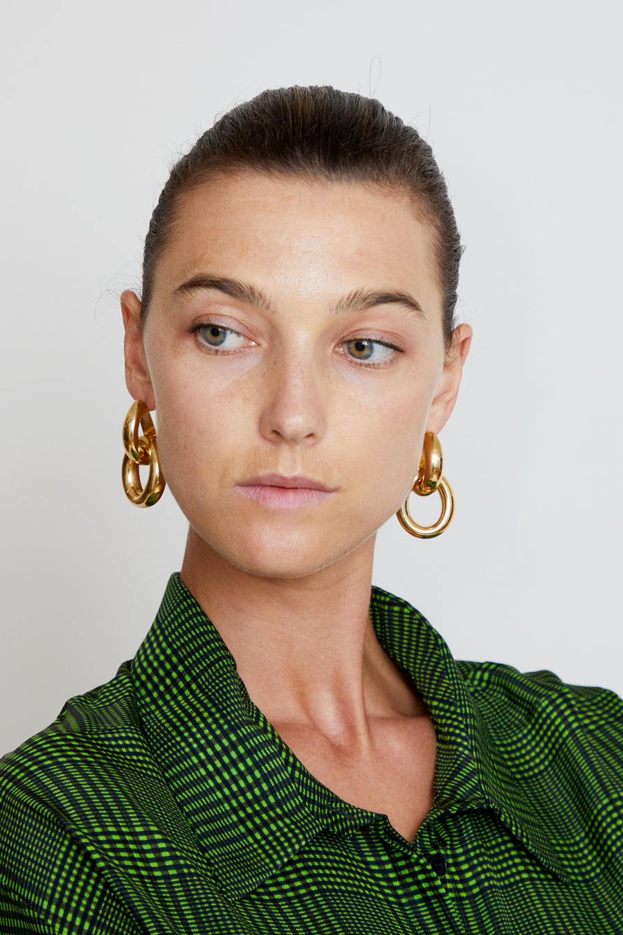 Gabriela Artigas Link Earrings in Plated Yellow Gold