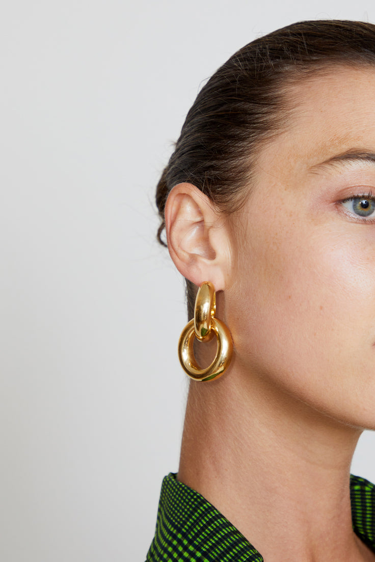 Image of Gabriela Artigas Link Earrings in Plated Yellow Gold