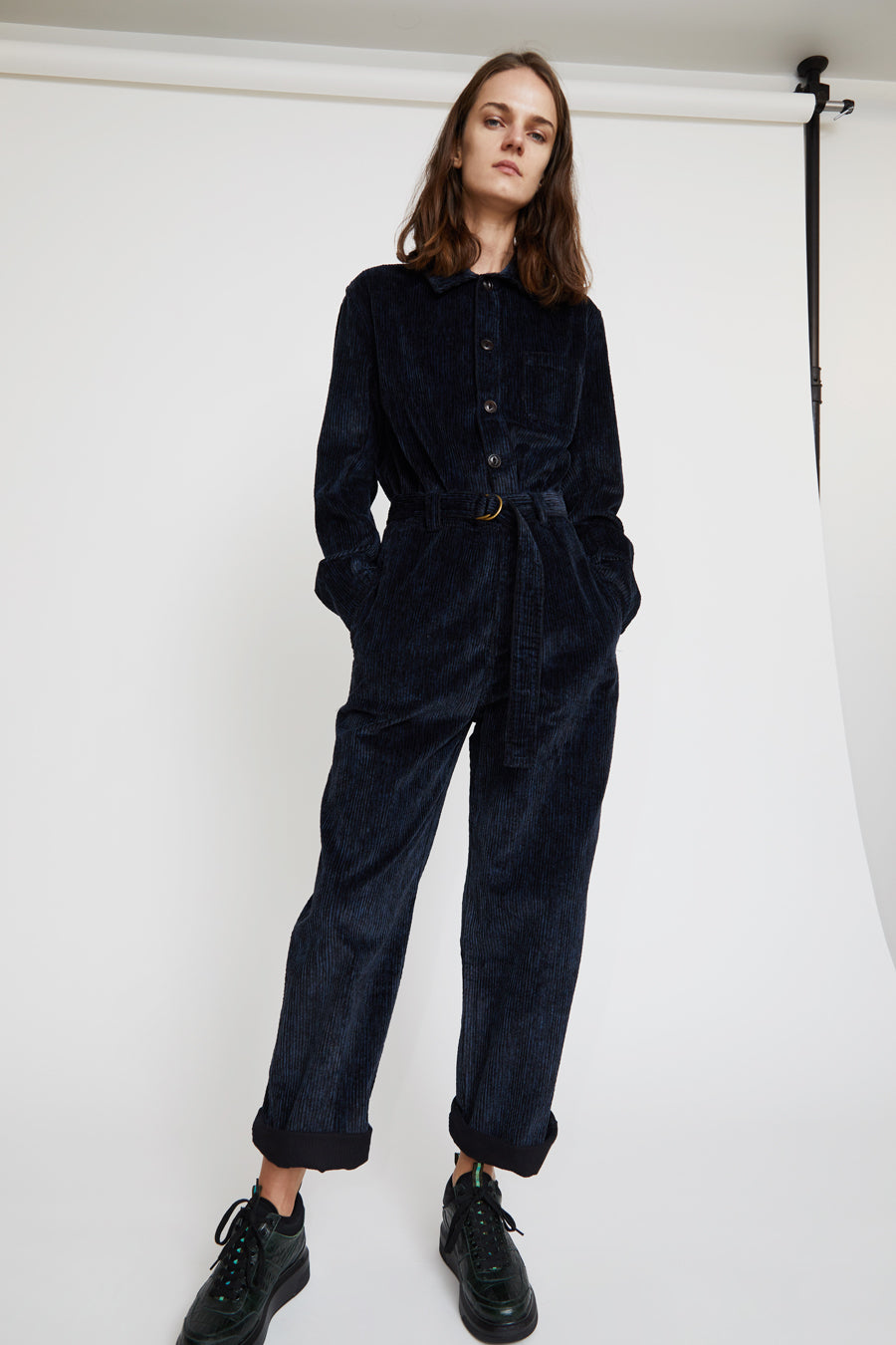 Girls of Dust Service Overalls in Printed Navy