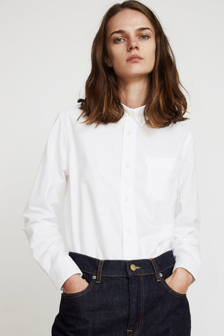 Image of Girls of Dust Button Down Oxford Shirt in White