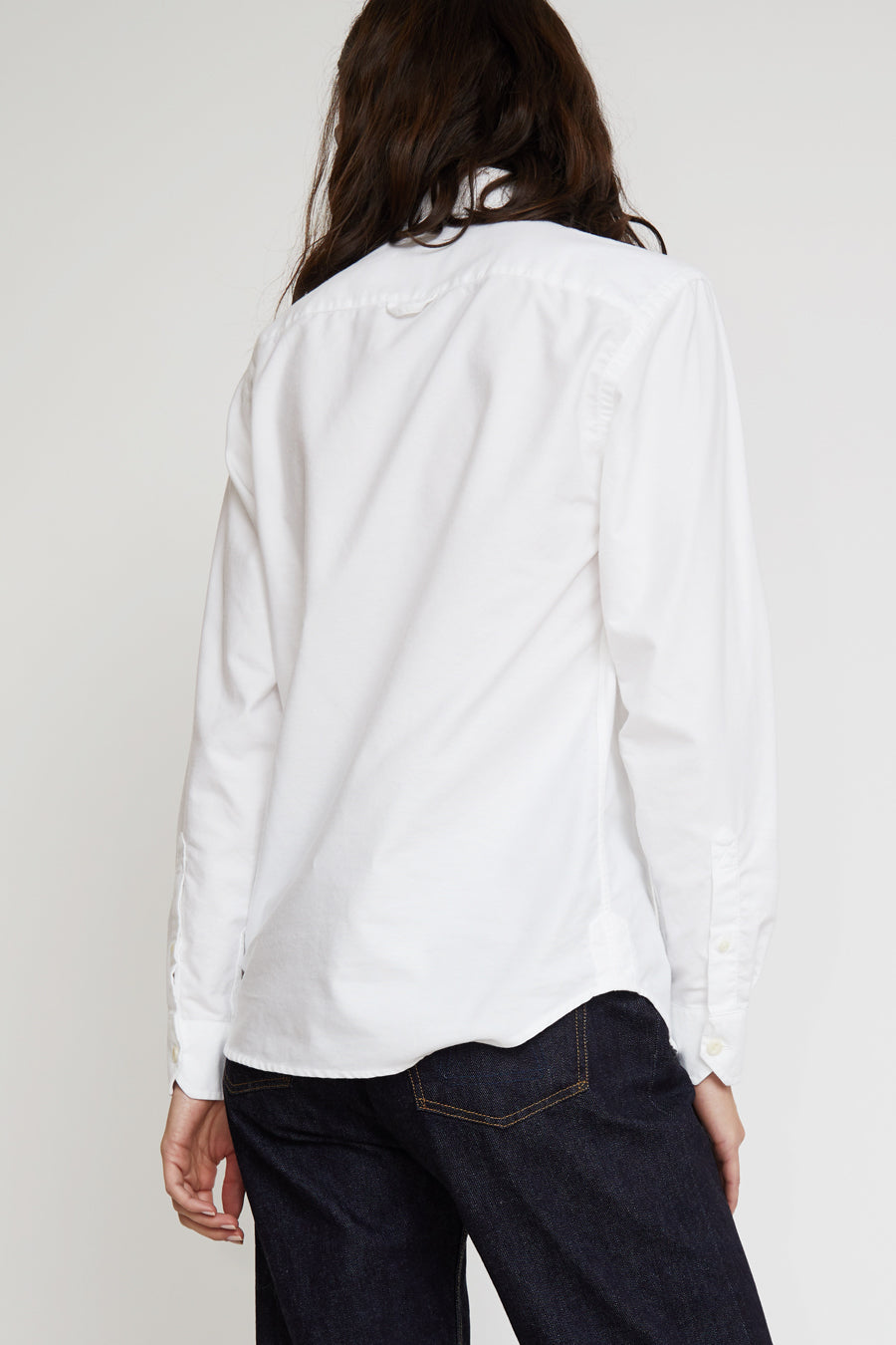 Girls of Dust Button Down Oxford Shirt in White
