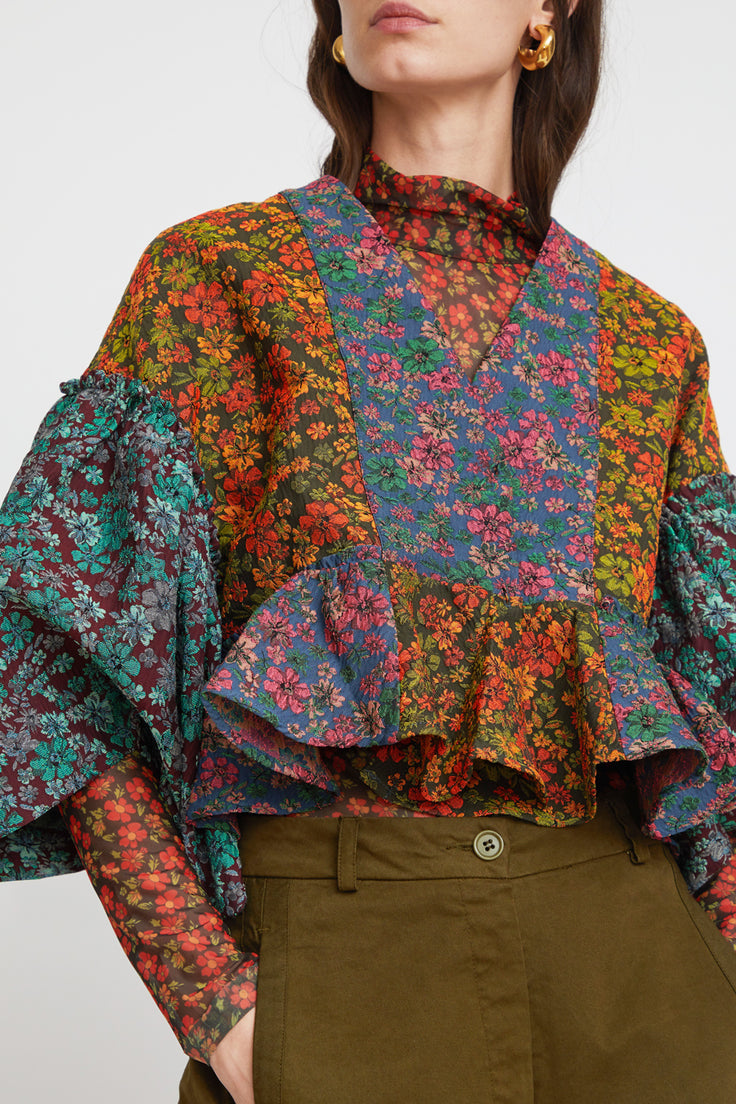 Image of Henrik Vibskov Pumpkin Blouse in Mixed Flower