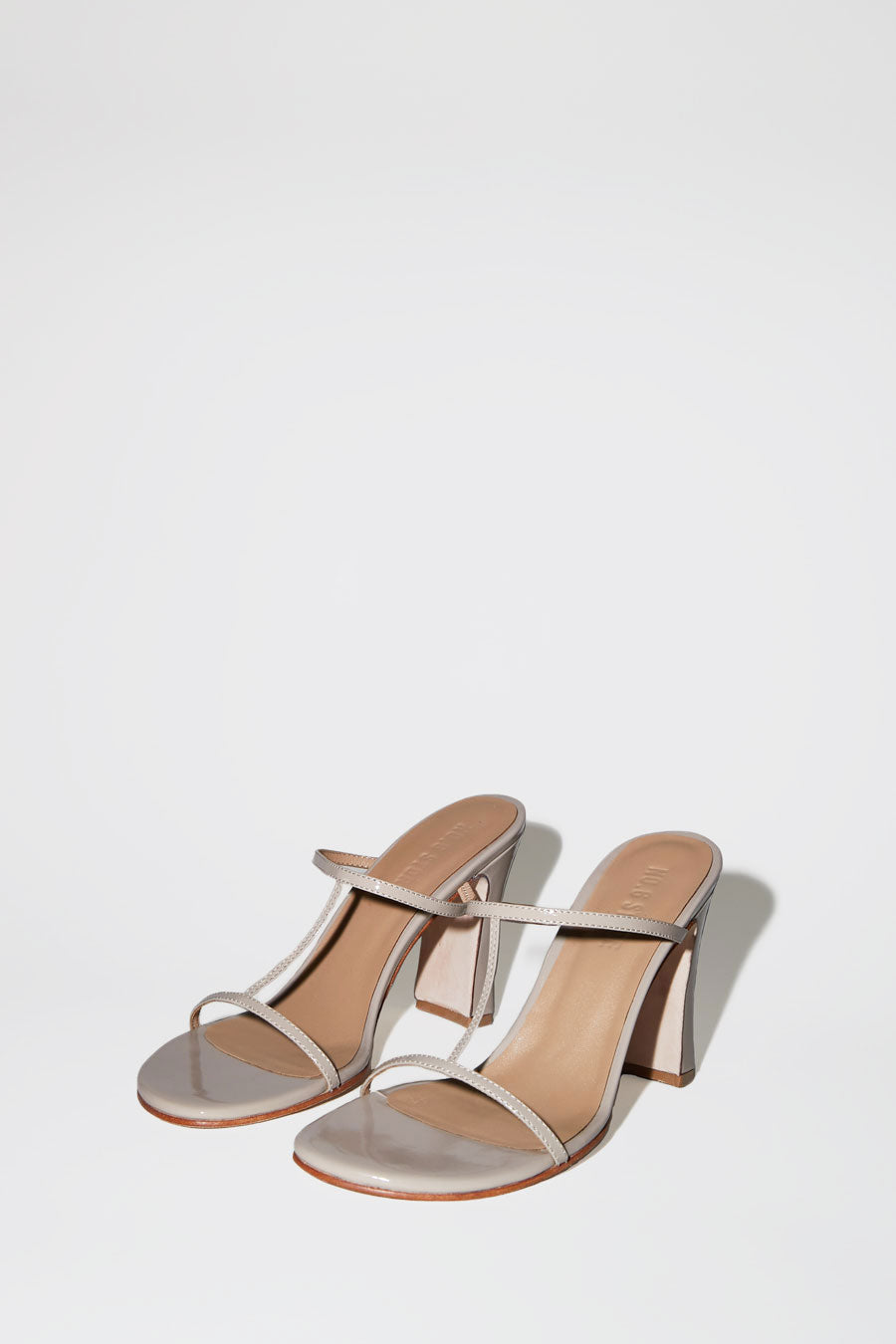 No.6 Alexandra T-Strap in Oyster Patent