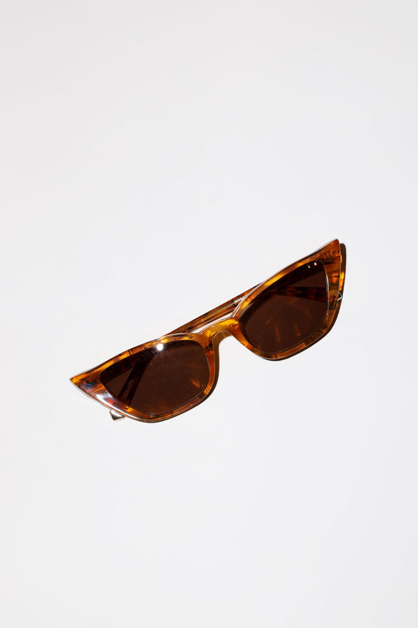 Kate Young for Tura Fawn Sunglasses in Amber