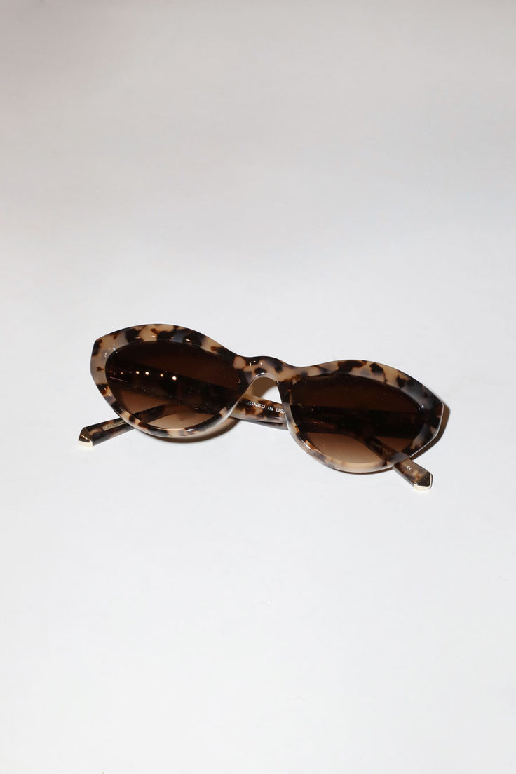 Image of Kate Young for Tura Elene Sunglasses in Tortoise