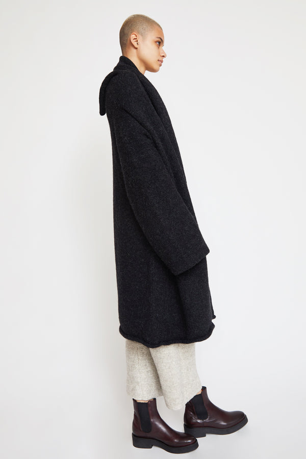 Lauren Manoogian Capote Coat in Black Melange