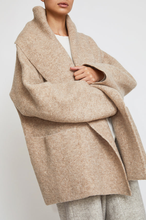 Lauren Manoogian Double Face Coat in Bale