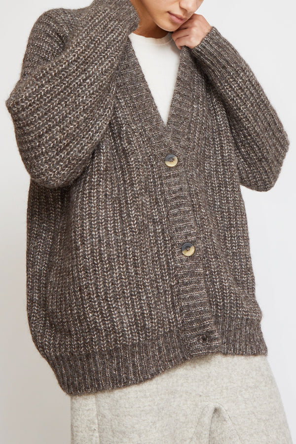 Lauren Manoogian Grandma Cardigan in Barnwood