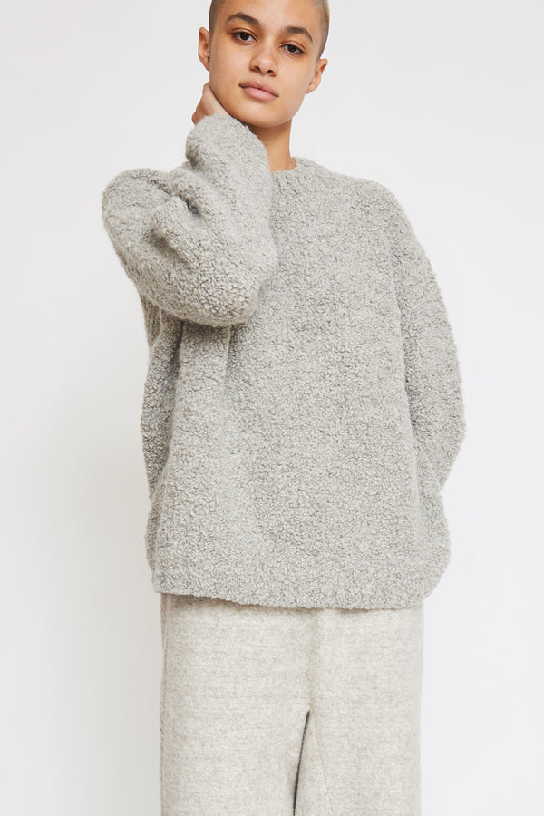 Lauren Manoogian Astrakhan Pullover in Smokey