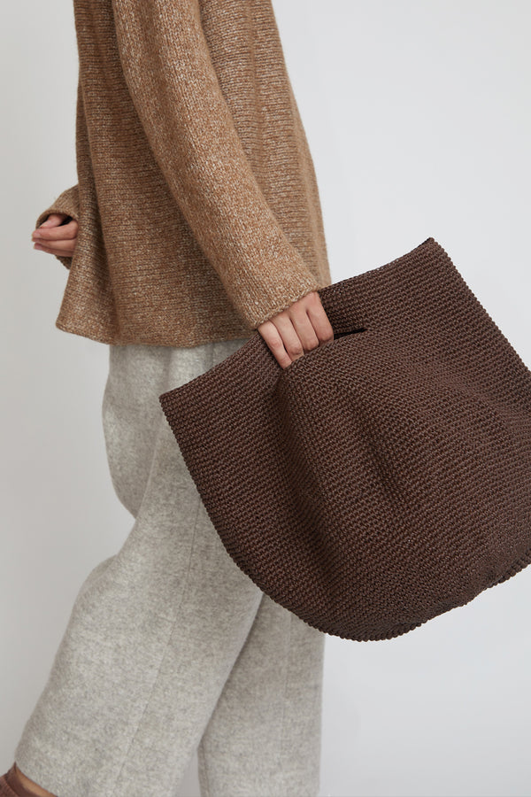 Lauren Manoogian Bowl Bag in Dark Brown