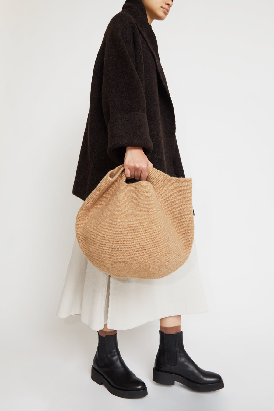 Lauren Manoogian Woolen Bowl Bag in Brindle