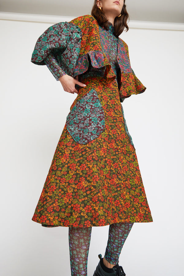 Henrik Vibskov Leek Skirt in Mixed Flower