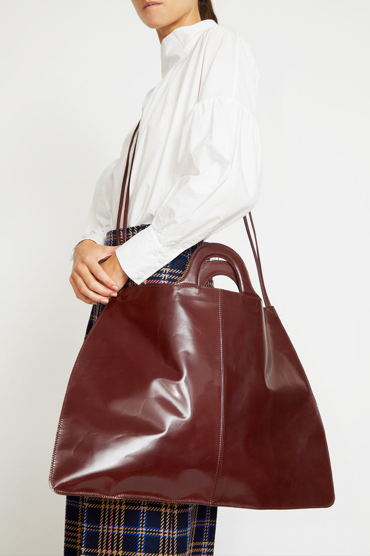 Image of Martiniano Padua Bag in Oxblood
