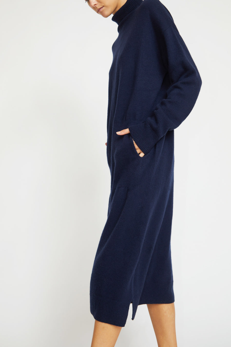 Mijeong Park Wholegarment Knit Dress in Navy