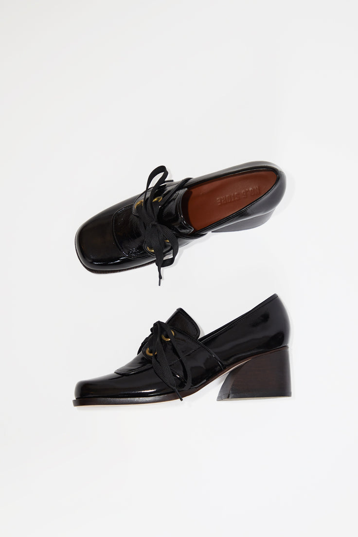 Image of No.6 Milo Oxford in Ink Leather