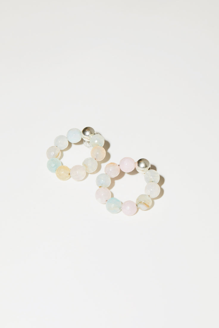 Image of Mirit Weinstock Candy Hoops in Silver / Candy