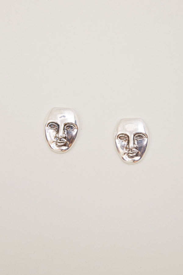 Mondo Mondo Face Earrings in Sterling Silver