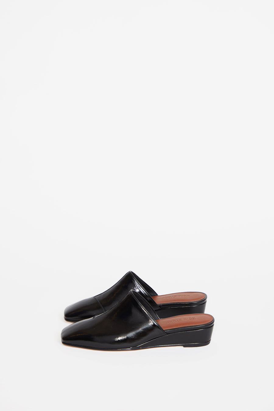No.6 Neema Slide in Ink Leather
