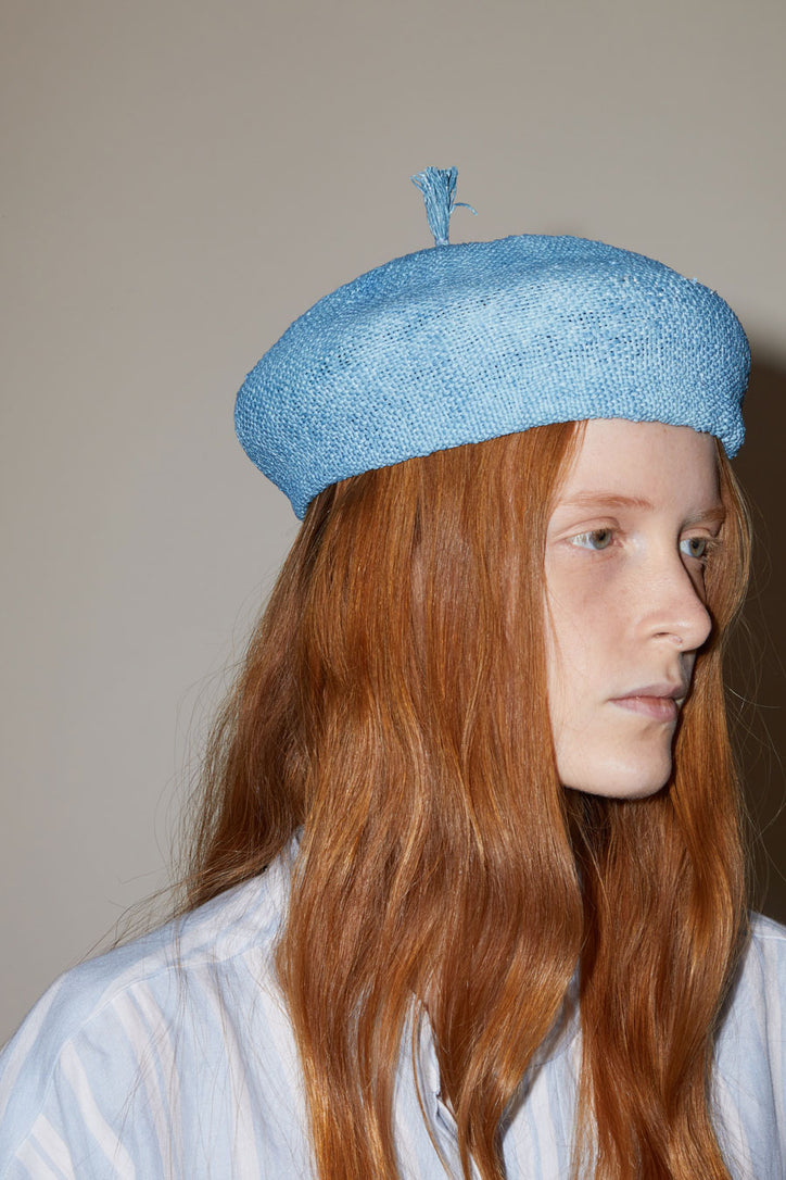 Image of Muhlbauer Claire Hat in Indigo Paper / Canvas