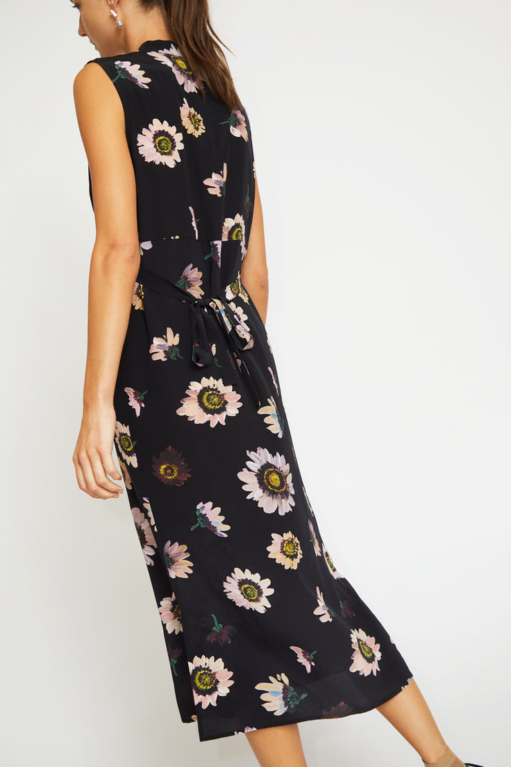 Image of No.6 Alba Dress in Black Autumn Daisy