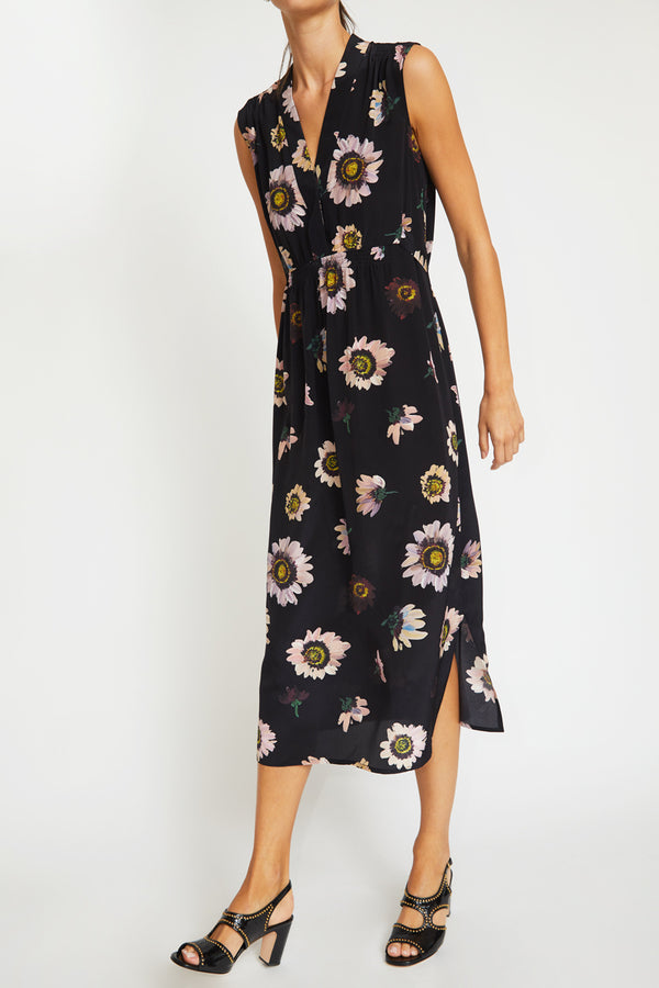 No.6 Alba Dress in Black Autumn Daisy