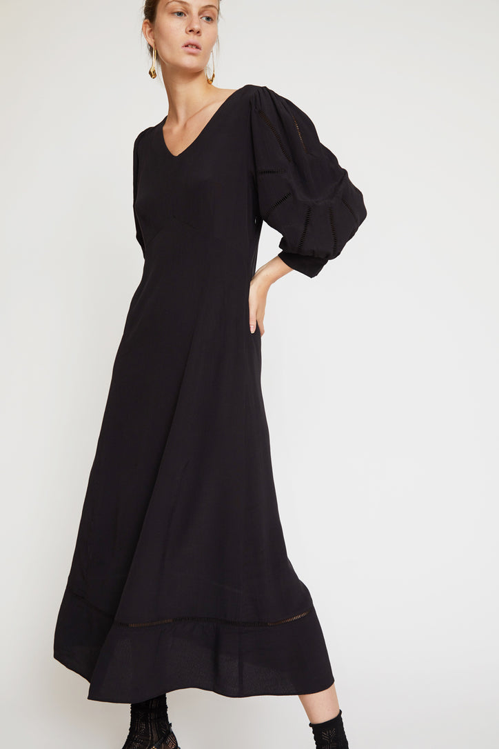 Image of No.6 Beatrice Dress in Black Rayon