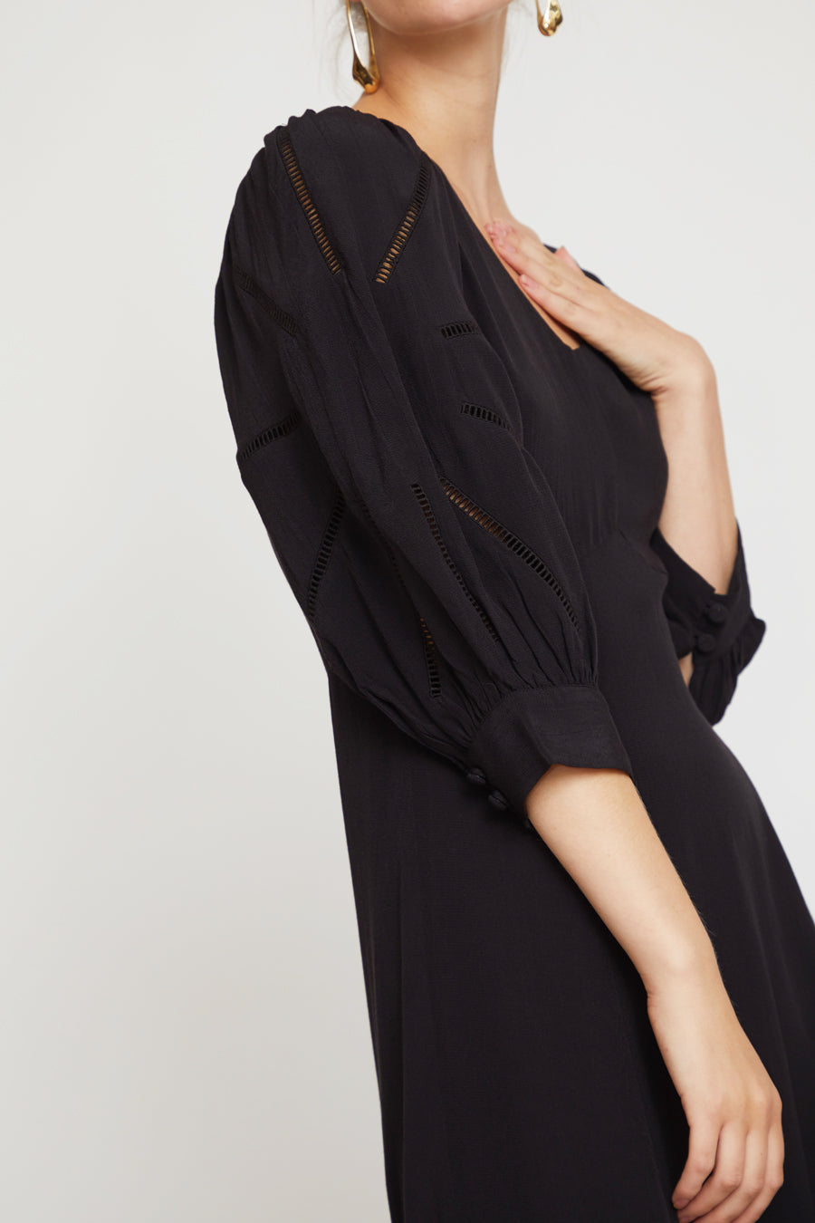 No.6 Beatrice Dress in Black Rayon